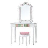 【顛覆設計】繽紛世界3尺化妝台(含椅)