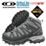 【索羅門 SALOMON】女 X Ultra Mid Gore-Tex W 中筒 防水透氣健行.Contagrip抓地力防滑鞋底 灰 328152