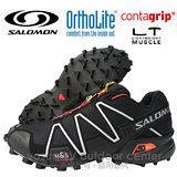 【索羅門 SALOMON】男新款 SPEEDCROSS 3 M 輕量化戶外越野跑鞋 黑色 127609