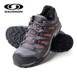 【索羅門 SALOMON】男新款 XR Shift Gore-Tex 防水透氣野跑運動鞋 淺灰/橘 327305