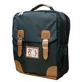【Miffy】米飛兔學院風護脊書包後背書包後背包-氣質黑