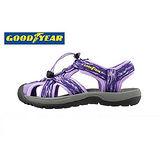 GOODYEAR 專業護趾運動涼鞋女款-紫(22~25cm)