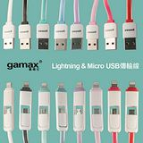 gamax 嘉瑪仕 iPhone/Micro USB 1.5米高速2合1傳輸線 (i5/i6/HTC/三星..)