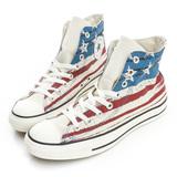CONVERSE (男/女)Chuck Taylor All Star 帆布鞋(高統)-美國國旗(淺藍)-149496C