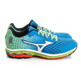 Mizuno 美津濃 (男)WAVE RIDER 18 慢跑鞋-藍-J1GC150401