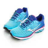 Mizuno 美津濃 (女)WAVE RIDER18 W 慢跑鞋-粉藍-J1GD150307