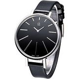 CK 完美簡約時尚名伶腕錶- 黑