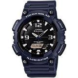 CASIO 型男個性太陽能雙顯錶 (深藍錶帶)