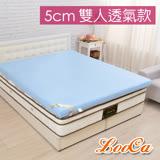 【開學組】LooCa吸濕排汗5cm記憶床枕被組-雙人