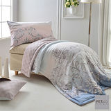 FET&co.寢飾 麗緻風華舒柔天絲印花薄被+信封枕套三件組