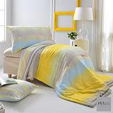 FET&co.寢飾 城市光點舒柔天絲印花薄被+信封枕套三件組