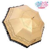 ◆日本雨之戀◆ 福懋散熱降溫3~5℃歐風直傘{金咖內黑}遮陽傘/雨傘/雨具/晴雨傘/專櫃傘