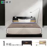 KIKY 佐佐木-胡桃色-內嵌燈光雙人5尺床頭片