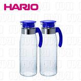 日本HARIO 耐熱抗菌玻璃冷水壺-1400ml(2入組)