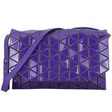 ISSEY MIYAKE 三宅一生BAOBAO幾何菱格翻蓋斜背包(紫)