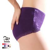 WINCEYS 竹纖維高腰蕾絲內褲(隨機)