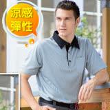 【瑞多仕-RATOPS】男款 THERMOCOOL 排汗休閒短袖平織領POLP衫/ DB8484 灰色