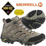 【美國 MERRELL】男款 MOAB MID GORE-TEX 專業防水透氣中筒登山健行鞋 卡其/黑 ML87311