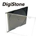 DigiStone單片超薄CD/DVD硬殼收納盒/黑色 50PCS