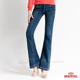 【BRAPPERS】女款 女款系列-女用小喇叭褲-藍