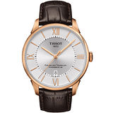 TISSOT 杜魯爾系列 動力80機械腕錶(玫瑰金框-42mm) T0994073603800