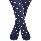英國 JoJo Maman BeBe 花漾嬰幼兒小童內搭褲襪/保暖襪 海軍藍白點點(JJL004)