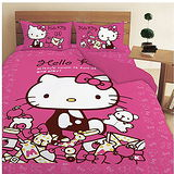LUST寢具 【Hello Kitty 的遊戲房】3.5X6.2-/床包/枕套、日本卡通合法授權、台灣製
