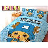 LUST寢具 【航海王/喬巴超人-藍】單人薄被套4.5x6.5尺、日本卡通合法授權、台灣製
