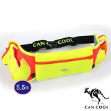 CAN COOL敢酷 馬拉松5.5吋炫彩雙水壺腰包 C150125001(黃橘)