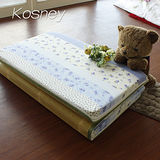 《KOSNEY 藍彩香語》台灣製8cm三折式冬夏兩用床墊3x6尺單人