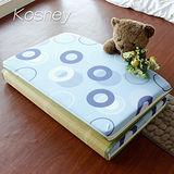 《KOSNEY 藍圓美語》台灣製8cm三折式冬夏兩用床墊3x6尺單人