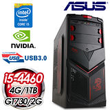 華碩B85平台【炎魔龍王】Intel i5-4460四核 GT730-2G獨顯 1TB效能電腦