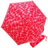 COACH果紅色漸層C Logo輕量攜帶型晴雨傘