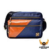 AIRWALK - 黑金系列 摩洛哥之星 雙色雙料機車側背包 - 品格藍