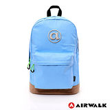 AIRWALK - 頑色糖果系列純色筆電後背包 - 淺藍