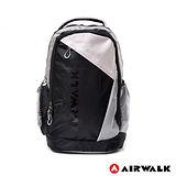 AIRWALK - 大容量雙色輕型後背包 - 黑灰
