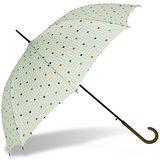 【rainstory】樂活點點(粉綠)抗UV自動開直骨傘