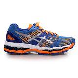 (女) ASICS GEL-NIMBUS 17-D 慢跑鞋- 路跑 寬楦 藍螢光橘