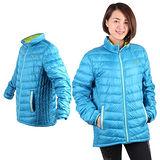 (女) PUMA 輕量羽絨外套-立領 保暖 湖水藍綠