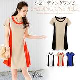 日本Portcros 現貨-氣質配色滾邊設計連身洋裝(共三色)