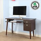 BuyJM低甲醛雙抽一鍵實木腳電腦桌 (寬120公分)