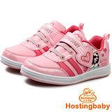 【Hostingbaby小寶當家】5162粉紅色板鞋防滑兒童運動鞋女童鞋春秋新款旅遊波鞋子韓版潮