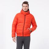 【hilltop山頂鳥】男款可拆袖蓄熱羽絨外套F24ME2-桔紅