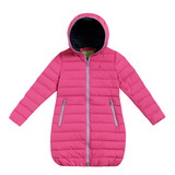 【hilltop山頂鳥】童款蓄熱羽絨長大衣F21C33-莓粉