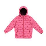 【hilltop山頂鳥】童款可拆袖蓄熱羽絨外套F22CI4-茶花粉/薔薇紅