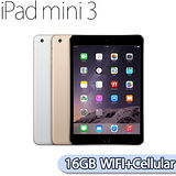 【福利品】Apple iPad mini 3 Wi-Fi + Cellular 16GB 平板電腦(金)(全新未拆)
