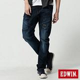 EDWIN E-F貼袋機能3D窄直筒牛仔褲-男-酵洗藍