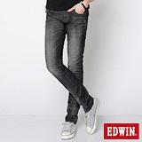 EDWIN MISS503袋蓋窄直筒牛仔褲-女-灰色