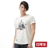 EDWIN 江戶勝限量武士T恤-男-米白色