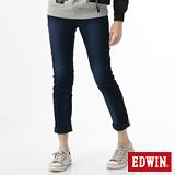 EDWIN 503迦績褲JERSEYS保溫褲-女-原藍磨